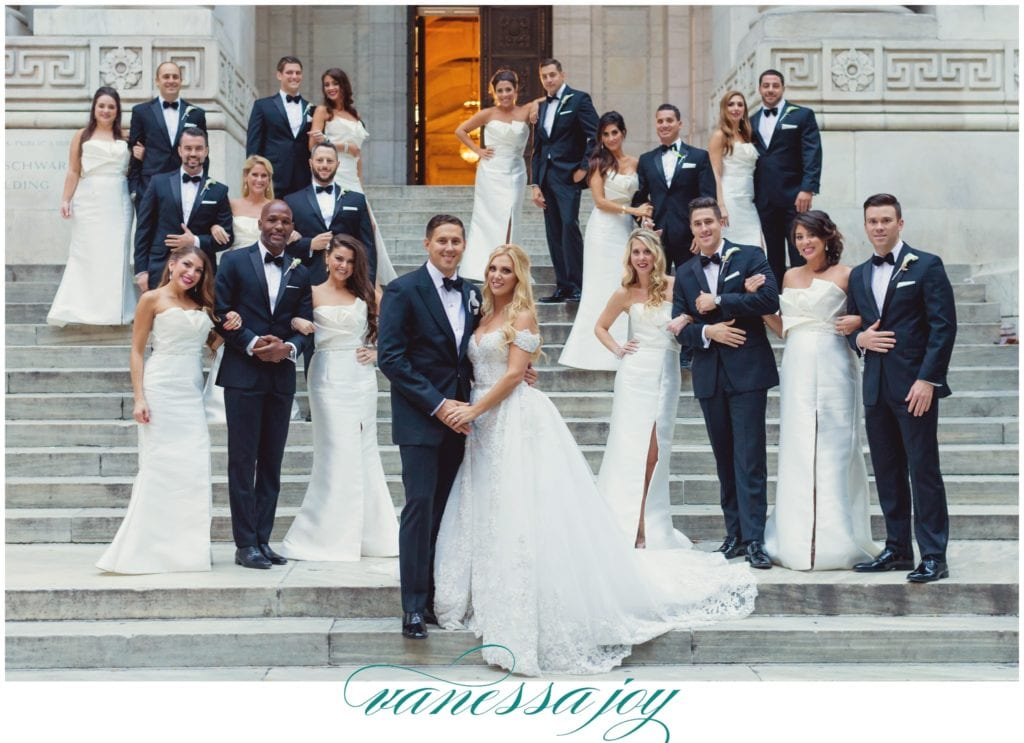 large bridal party photos, NY weddings