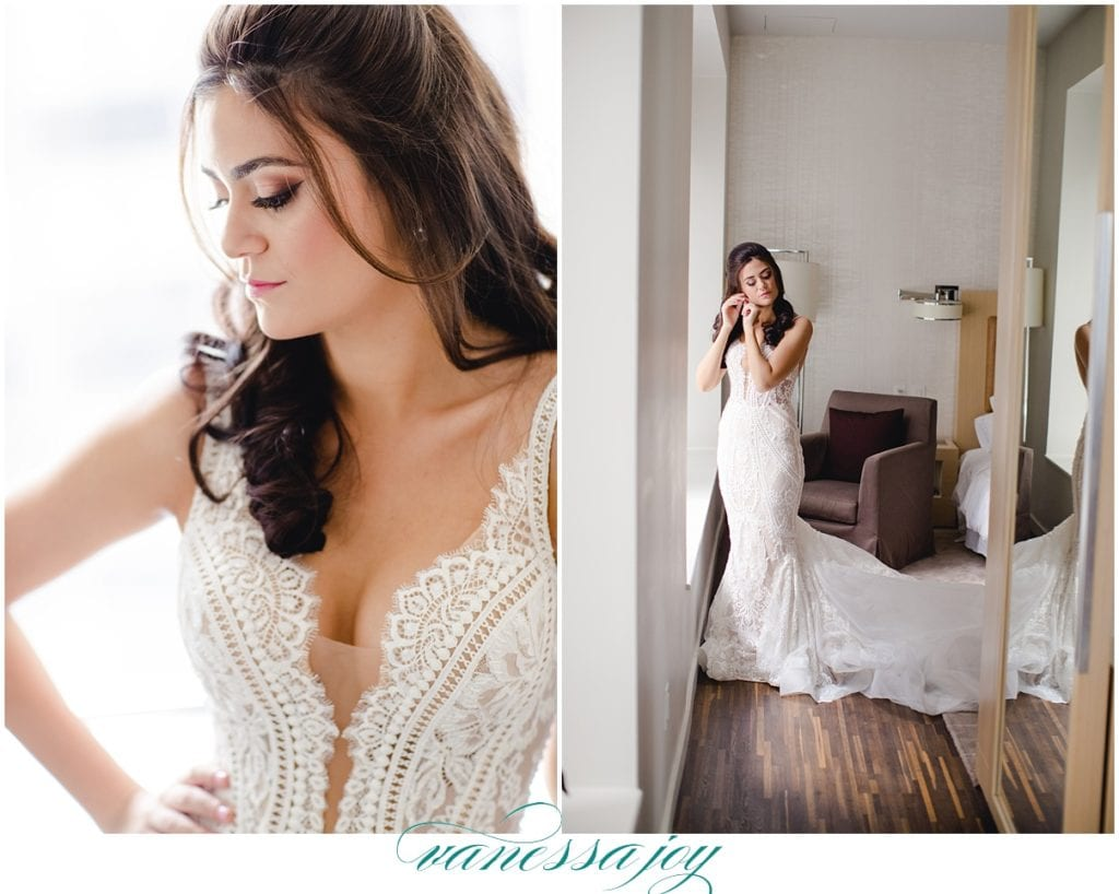 wall street bridal portraits, pallas couture wedding gown