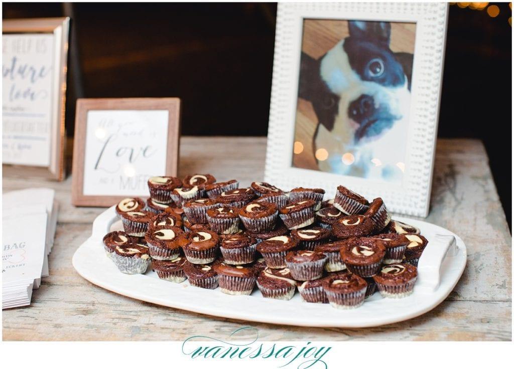 baked muffin bar at wedding