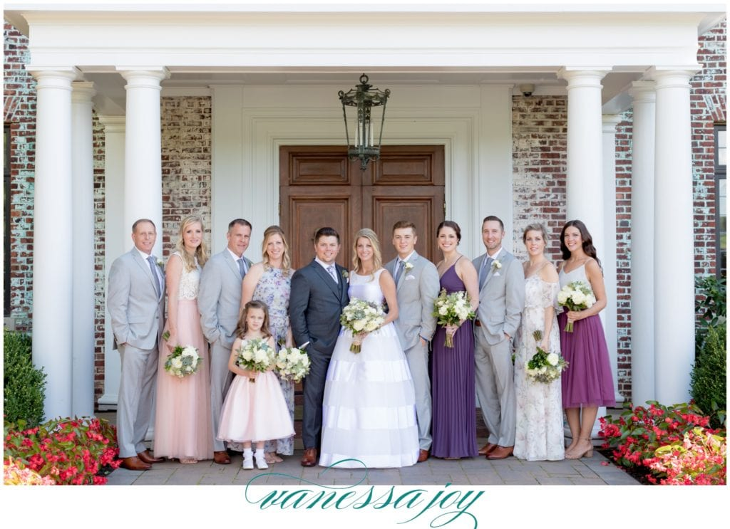 gray suit, gray and pink wedding party, nj wedding