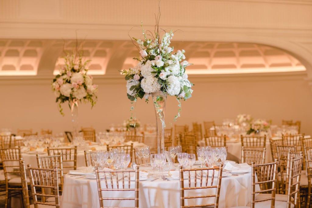 Flowers By Maggie centerpieces, Park Chateau wedding venue