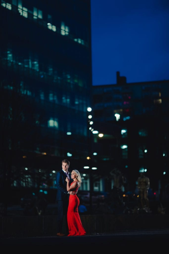 nyc engagement, night time engagement photos, engagement photography, engagement photo inspirations
