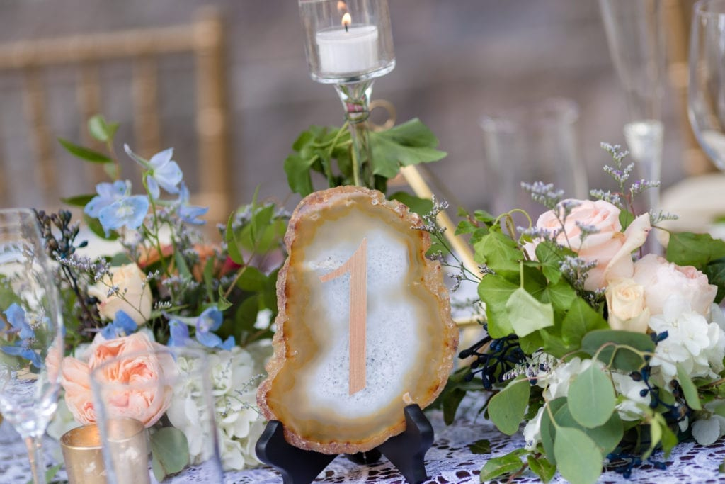 wedding table numbers, wedding detail photography shot