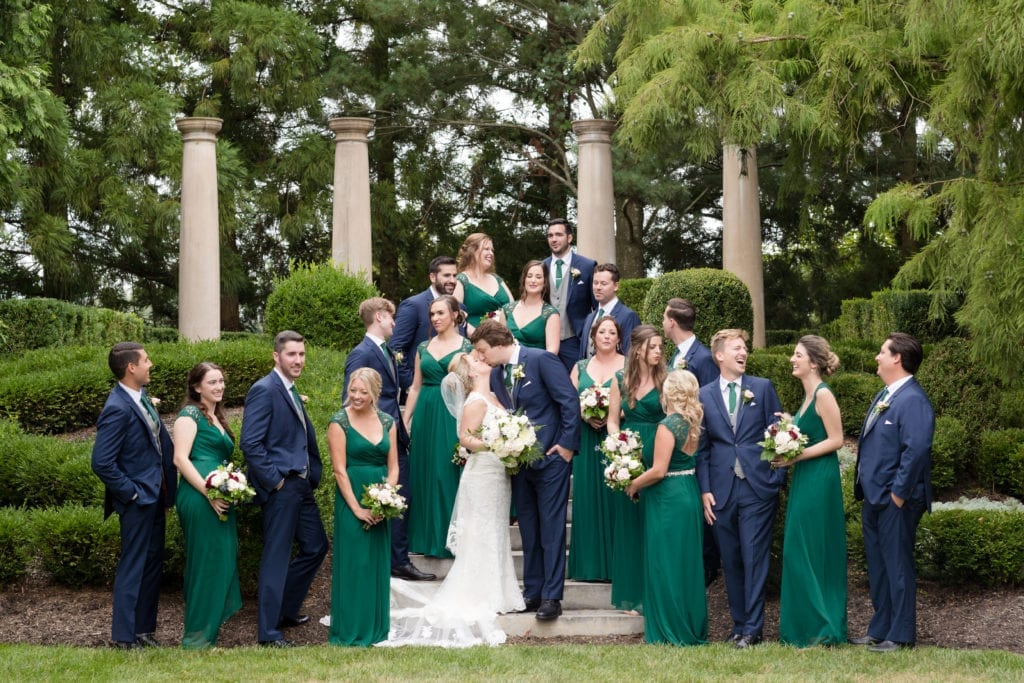 large bridal party photography
