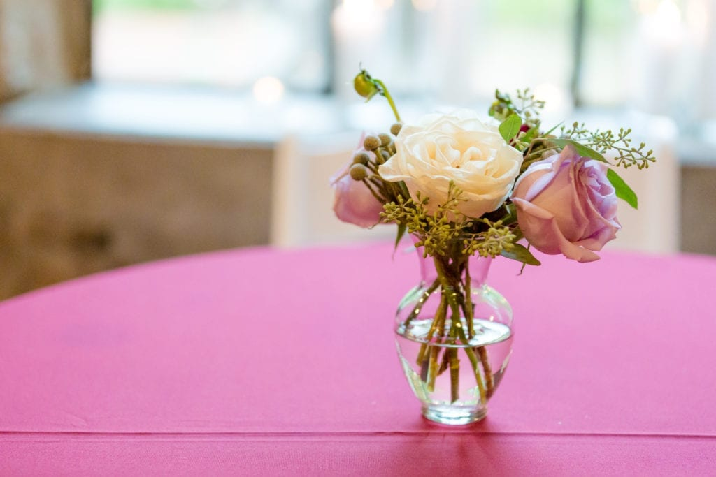 magnificent florals table arrangement