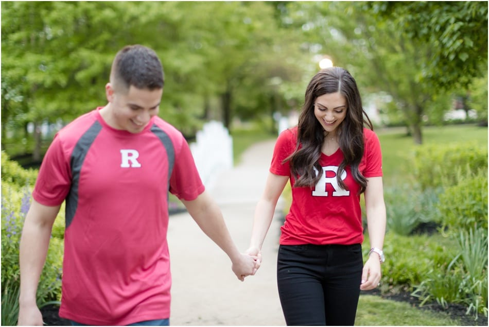 fun collegiate engagement photos