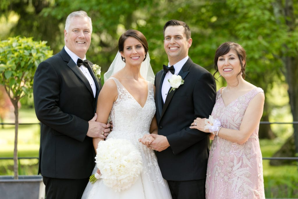bride and groom with in laws