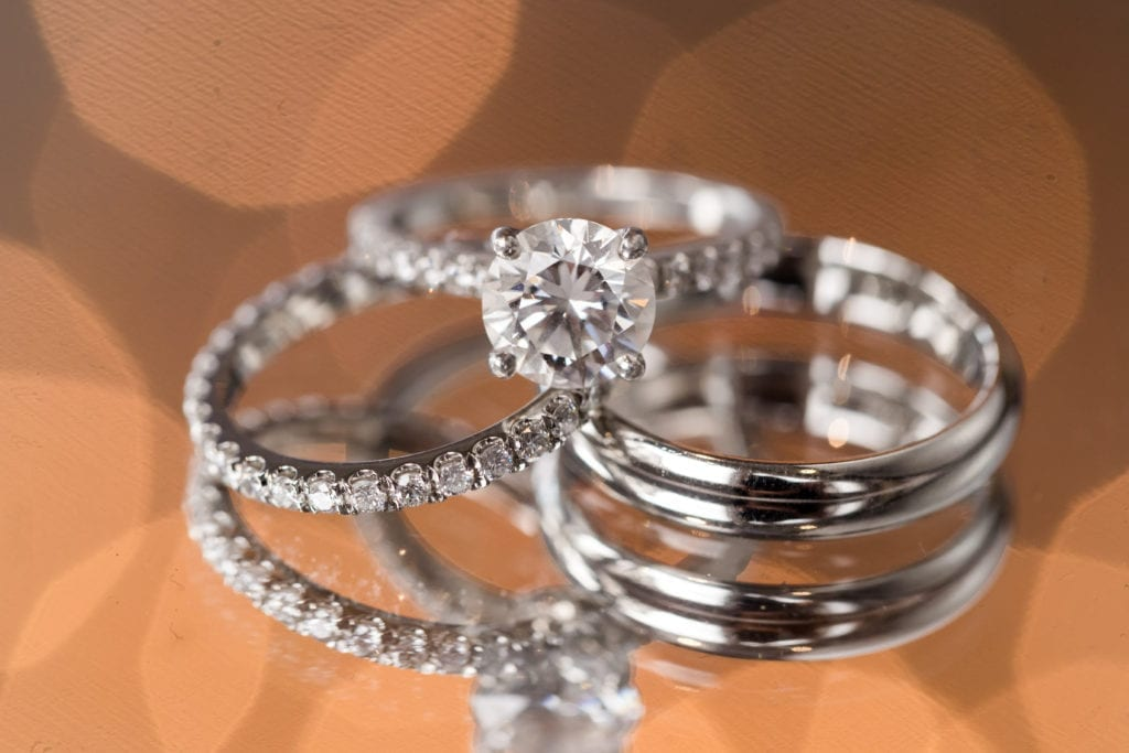 round solitaire diamond engagement rings, wedding bands