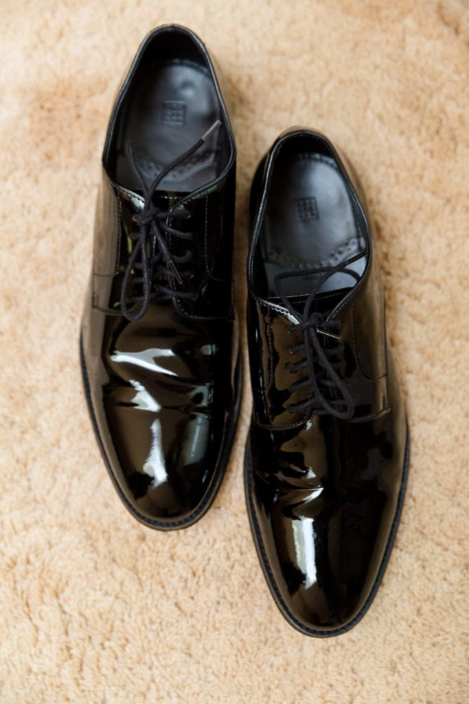 Grooms patent leather wedding shoes, black patent leather shoes