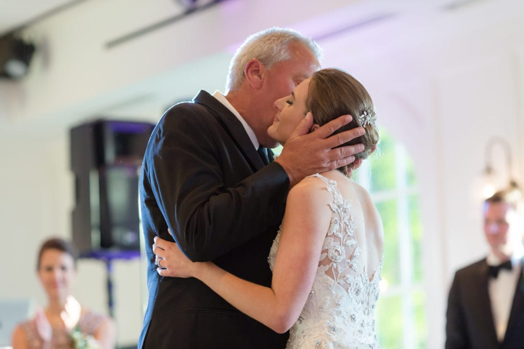 father of the bride and daughters first dance, first dance photography