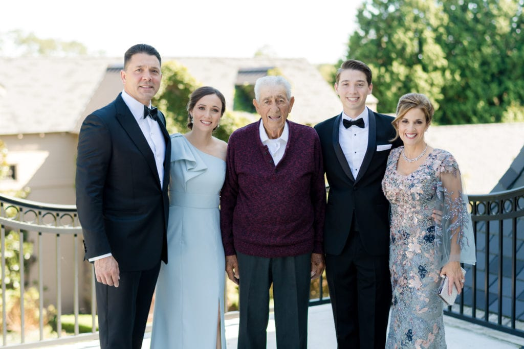 grooms family on wedding day