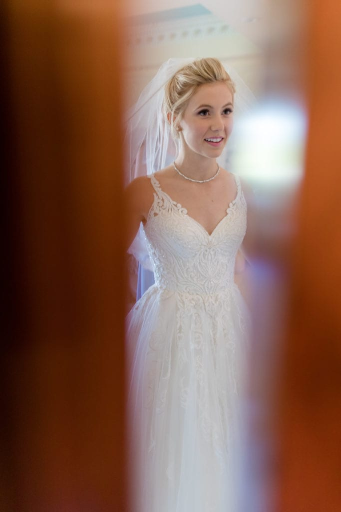 lace embroidered Martina Liana wedding gown