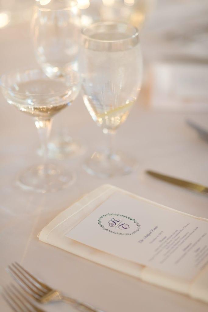 crane & Co wedding menus